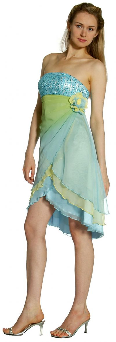 Short Wrap-around Prom Dress