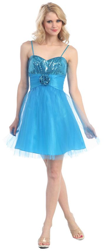 Short Prom Dress with Sparkling Bustline