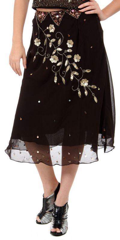 Bead Embellished Skirt