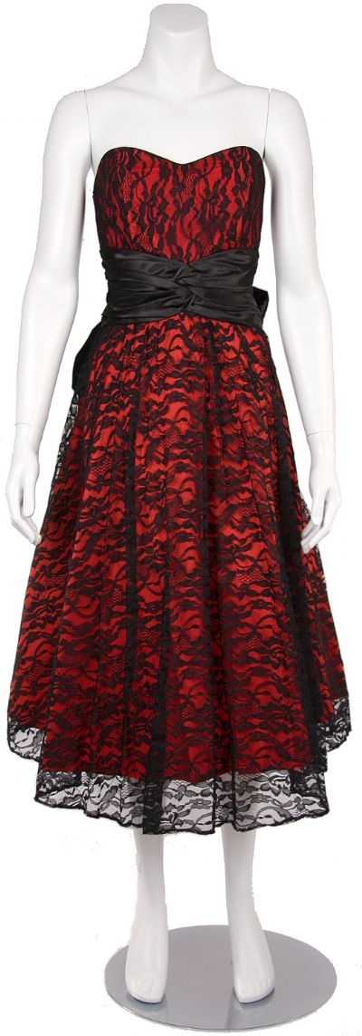 Classic Floral Print Lace Formal Dress