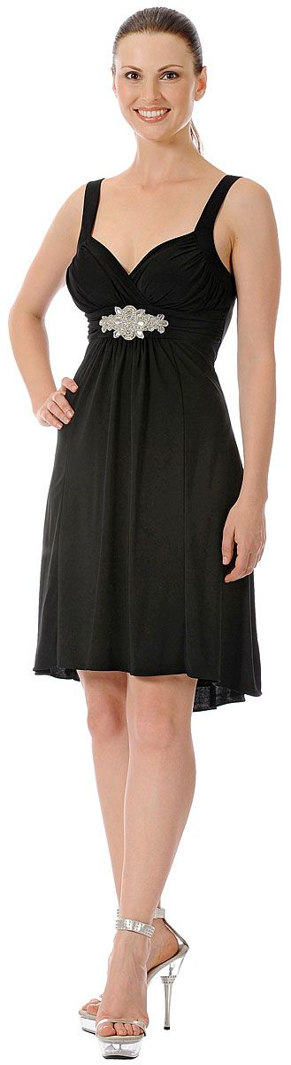 Ruched Overlap Bust Short Formal Party Dress