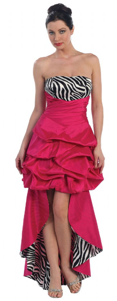 Convertible Bubble Dress with Zebra Print