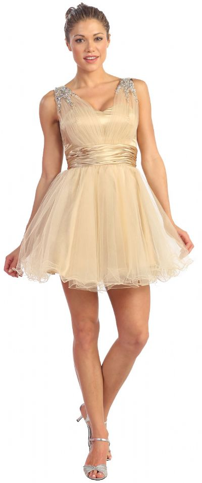 Sweetheart Neck Layered Mesh Short Party Prom Dress