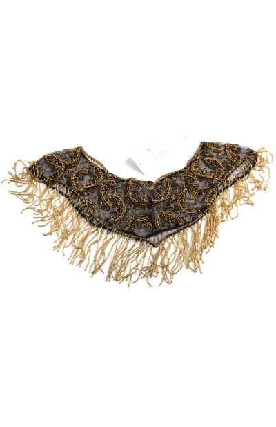 Half Moon Beaded Collar Scarf