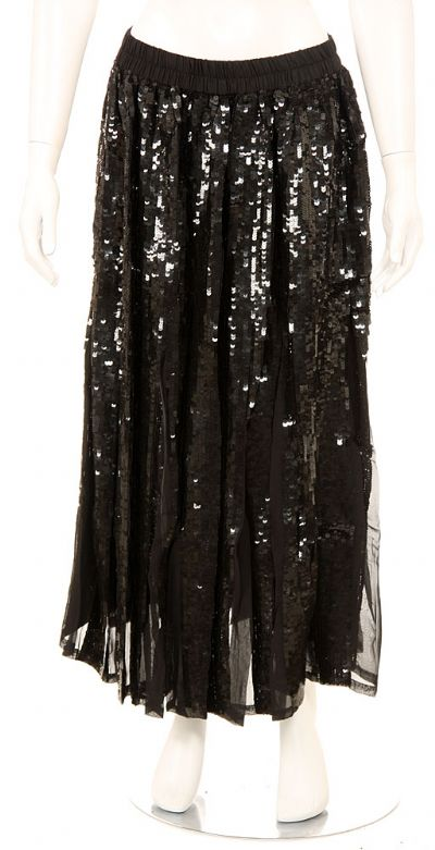 Sequined Beaded Full Length Skirt