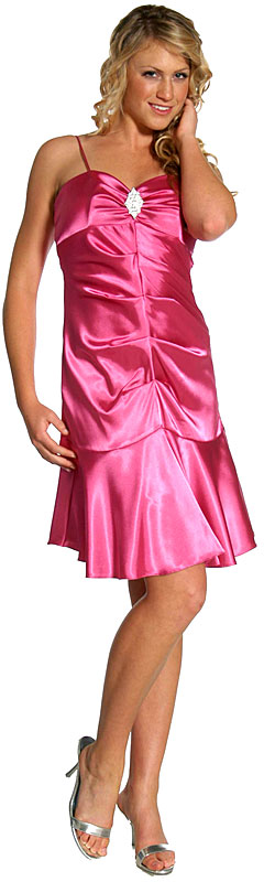 Spaghetti Straps Short Party Dress with Flared Bottom