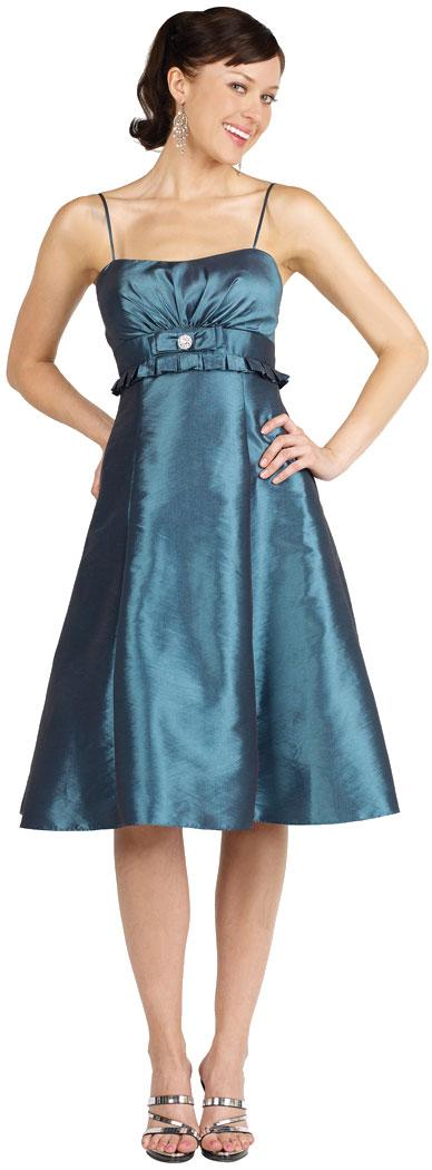 Two Tone Taffeta Empire Cut Party Dress
