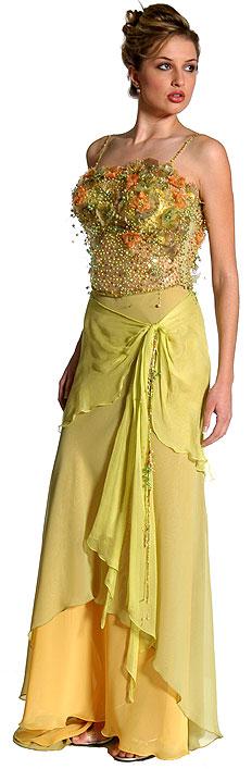 Spaghetti Style English Net Prom Dress