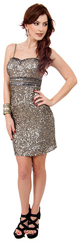 Sweetheart Neck Empire Cut Short Party Dress . 10114.