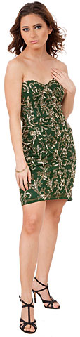 Strapless Floral Beaded Short Homecoming Party Dress. 10198.