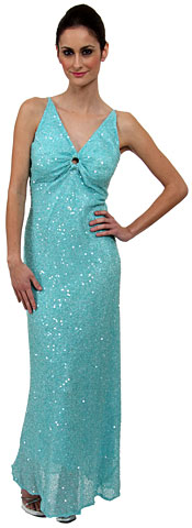 V-Neck Sequined Long Pageant Gown with Keyhole . 1048.