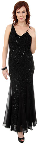 Spaghetti Strapped & Flared Formal Evening Dress. 1049.
