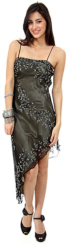 Asymmetric Beaded Plus Size Prom/Plus Size Prom Dress. 1059.