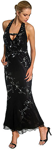 Halter Neck Low Back Prom Dress . 1069.