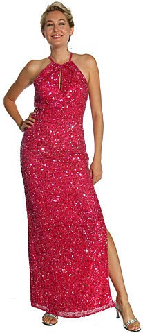 Halter Neck Sequined Pageant Dress. 1074.