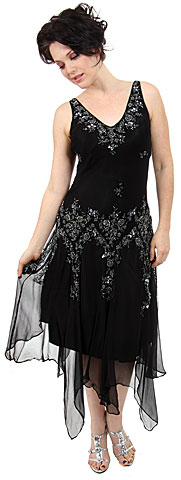 V-Neck Beaded Silk Mother of the bride Dress with Jacket. 1078.