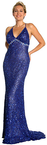Criss-Crossed Plus Size Prom Dress with Open Back. 1079.