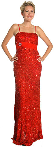 Shimmer Spaghetti Strap Prom Dress with Brooch. 1080.