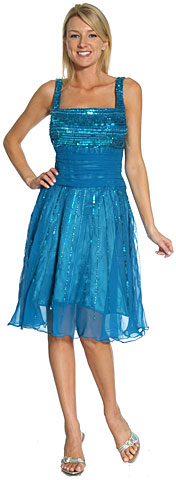Parallel Beaded Broad Strapped Party & Prom Dress. 1088.