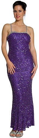 Bejeweled Shimmer Formal Dress with Elegant Back Design. 1093.