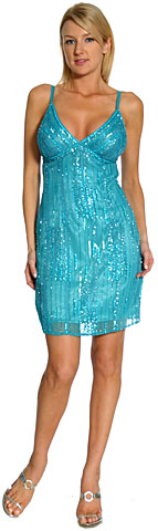 Glitter Short Cocktail Dress. 1106.