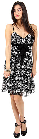 Boxy Floral Pattern Sequin Grad Dress. 1108.