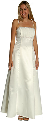 Shirred Bust Empire Cut Formal Bridesmaid Dress. 11093.