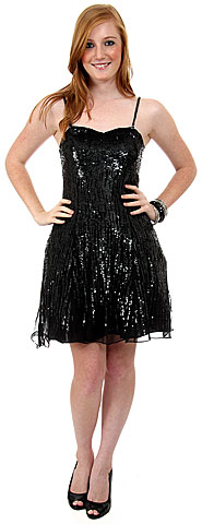 Sequined Glittery Silk Cocktail Little Black Dress. 1115.
