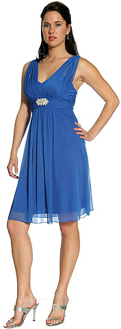 Shirred Empire Cut Short Graduation Graduation Dress. 11177.
