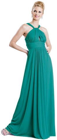 Halter Neck Tie Shirred Formal Formal Dress. 11233.