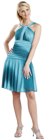 Halter Neck Shimmering Ombre Graduation Dress. 11237.