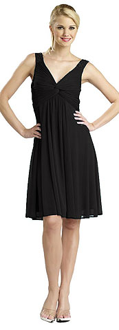 Ruched Twist Knot Bust Short Party Dress. 11240.