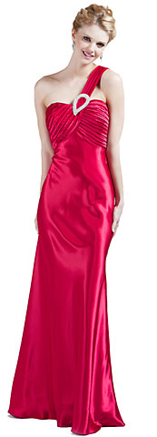 Single Shouldere Pleated Bodice Formal Evening Gown . 11248.