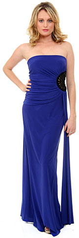 Strapless Ruched Cutout Detail Long Homecoming Dress . 11310.
