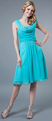 Short Dress with Ruching Bodice. 11319.