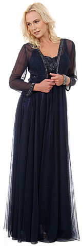 Plus Size Full Length Formal MOB Evening Gown with Jacket. 1131.