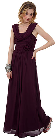 Long Formal Dress with Ruching Detail