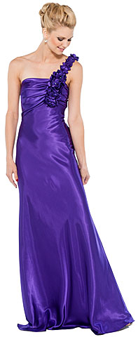 Floral One Shoulder Full Length Formal Formal Dress. 11329.