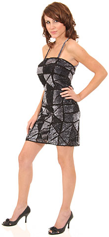 Spaghetti Straps Sequined Mini Formal Cocktail Dress. 1132.