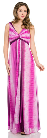 Empire Cut Multi-colored Formal Dress with Sash. 11348.