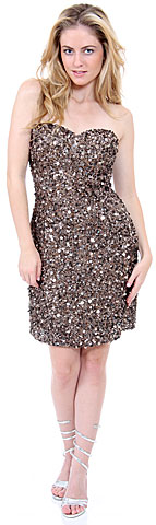 Strapless Heart-Shaped Formal Sequined Dress. 1137.