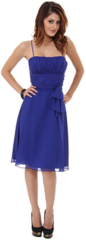 Spaghetti Straps Short Graduation Bridesmaid Dress. 11381.