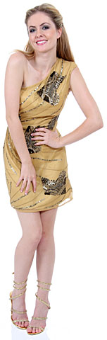 One-Shoulder Sequined Formal Dress. 1142.