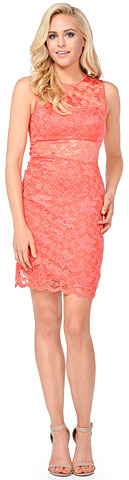 Floral Lace Cutout Short Bridesmaid Party Dress. 11430.