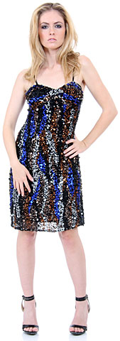 Fully Sequined Spaghetti Strap Party Dress. 1145.