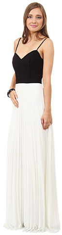Spaghetti Straps Pleated Skirt Long Formal Bridesmaid Dress. 11470.