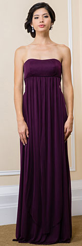 Convertible Empire Waist Long Formal Bridesmaid Dress
