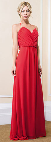 Halter Tie Grecian Ruched Long Formal Bridesmaid Dress