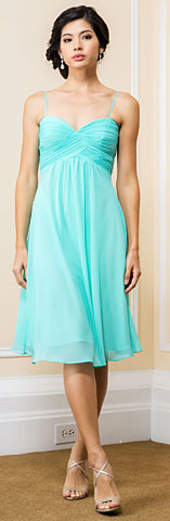 Sweetheart Neck Calf Length Bridesmaid Dress. 11564.