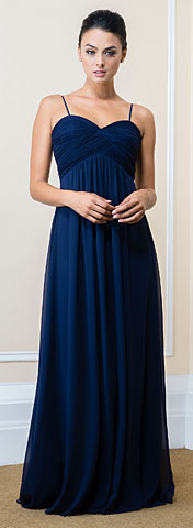 Sweetheart neckline Empire Cut Long Bridesmaid Dress. 11566.